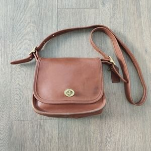 Vintage Coach Legacy Tan Brown Flap Crossbody 9965
